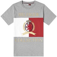 Tommy Jeans Hilfiger Collection Crest And Flag Tee Grey