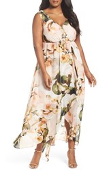 Sangria Plus Size Women's Chiffon Maxi Dress