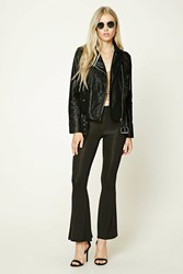 Forever 21 Stretch Knit Flared Pants Black