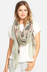 Women's Roffe Accessories Camo Print Scarf Pink Rose