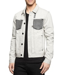 Calvin Klein Jeans Modern Fit Shadow Wash Denim Jacket Salt