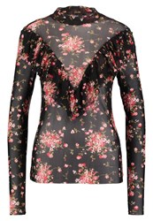Y.A.S Yas Yassmall Flower Long Sleeved Top Black