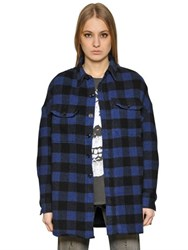 R 13 Plaid Heavy Felted Wool Cape And Jacket