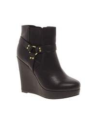 Asos Alarm Wedge Chelsea Ankle Boots Black