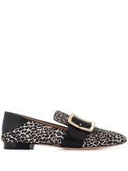 Bally Leopard Print Loafers Black