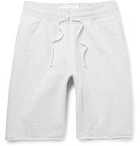 Reigning Champ Slim Fit Loopback Cotton Jersey Drawstring Shorts Stone