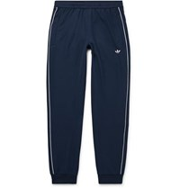 Adidas Originals Samstag Piped Stretch Knit Track Pants Storm Blue