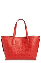 Loewe Logo Embossed Calfskin Leather Shopper