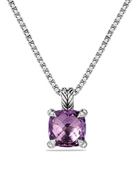 David Yurman Chatelaine Pendant Necklace With Amethyst And Diamonds Purple Silver