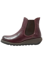 Fly London Salv Wedge Boots Purple