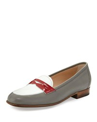 Gravati Flat Leather Penny Loafer Neutral