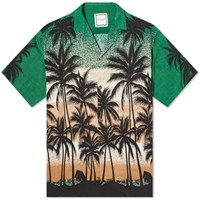 Wooyoungmi Palm Tree Vacation Shirt Green
