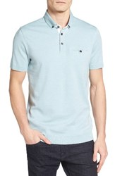 Ted Baker Men's London Frankiy Ribbed Hem Polo Mint