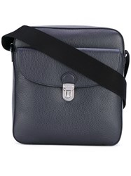 Tod's Crossbody Bag Men Cotton Calf Leather One Size Blue
