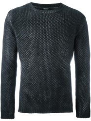 Avant Toi Crew Neck Textured Jumper Black