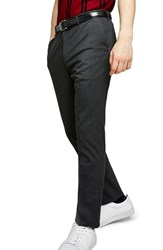 Topman Skinny Fit Trousers Charcoal