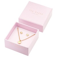 Ted Baker Hara And Harly Sweetheart Pendant Necklace And Stud Earrings Box Jewellery Set Rose Gold