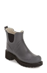Women's Ilse Jacobsen Hornbaek 'Rub 47' Short Waterproof Rain Boot Grey