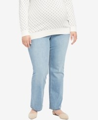 Jessica Simpson Plus Size Day Break Light Wash Boot Cut Maternity Jeans Daybreak Light Wash
