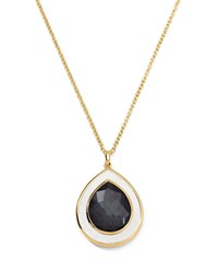 Ippolita 18K Medium Teardrop Hematite And Mother Of Pearl Necklace Women's