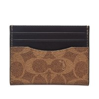 Coach Signature Card Holder Brown