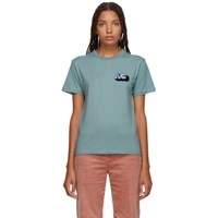 Alexachung Ssense Exclusive Blue 'Alexa' T Shirt