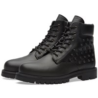 Valentino Rock Stud Combat Boot Black
