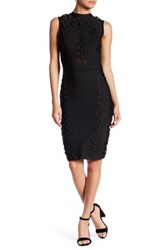 Wow Couture Lace Up Bandage Dress Black