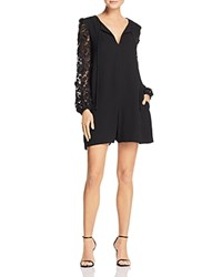 French Connection Malaita Lace Sleeve Romper Black