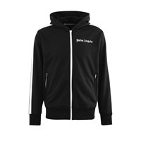 Palm Angels Hooded Jogging Top Black White
