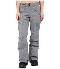 686 Authentic Smarty Cargo Pant Grey Diamond Dobby Women's Outerwear Gray