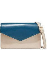 Iris And Ink Woman Zinnia Two Tone Leather Shoulder Bag Cobalt Blue