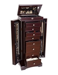 Mele Olympia Wooden Jewelry Armoire Brown