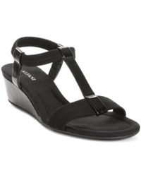 Alfani Women's Voyage Wedge Sandals Women's Shoes Black Patent