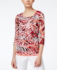 Alfani Petite Printed Tiered Blouse Only At Macy's
