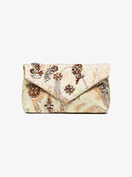 Dries Van Noten Crystal Embellished Fabric Clutch Multicolour