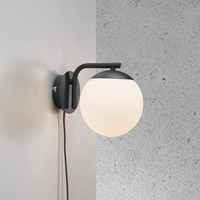 Amara Grant Wall Light Opal White Black