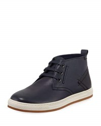 English Laundry St. James Leather High Top Sneaker Blue