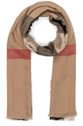 Burberry Lightweight London Check Travel Scarf In Neutrals Checkered And Plaid Neutrals Checkered And Plaid
