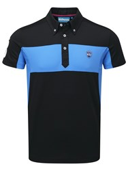 Bunker Mentality Cmax Sports Button Down Polo Black