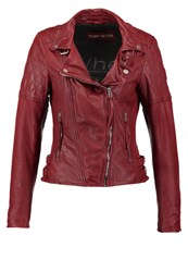 Freaky Nation Glory Leather Jacket Red