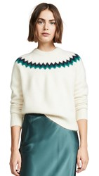 Demy Lee Demylee Lucero Sweater White Combo