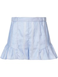 Lemlem Bekele Flared Shorts Blue