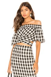 The Jetset Diaries Black Pearl Wrap Top Black And White