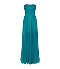 Escada Gwinta Strapless Tulle Gown Female Green