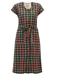 Ace And Jig Gallo Checked Cotton Dress Green Multi