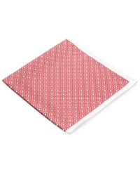 Ryan Seacrest Distinction Pacific Geo Pocket Square Red