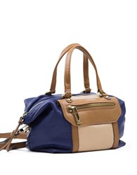 Sanctuary Soft Hero Leather Satchel Indigo Honey