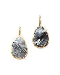 Marco Bicego 18K Yellow Gold Lunaria Black Mother Of Pearl Drop Earrings 100 Bloomingdale's Exclusive Black Gold