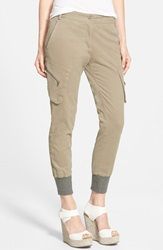 James Jeans Slouchy Utility Cargo Pants Desert Taupe